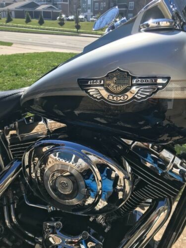 2003 Harley-Davidson Softail Black and silver two tone photo