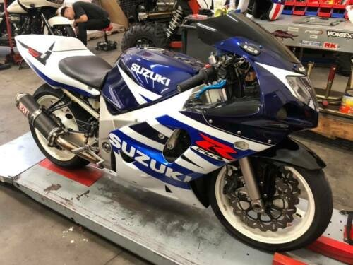 2003 Suzuki GSXR 600 White and blue for sale craigslist