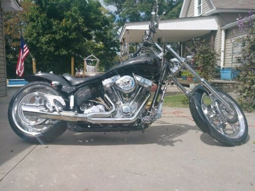 2004 American Ironhorse Slammer Black w 3dskulls photo