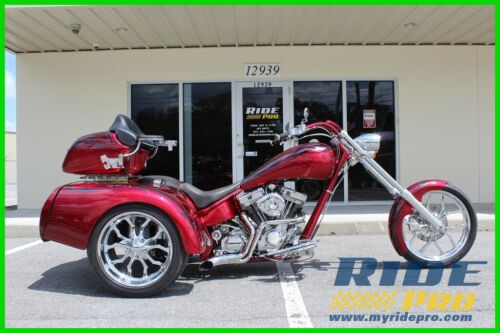 2005 American Ironhorse Texas Chopper Custom Trike Red photo