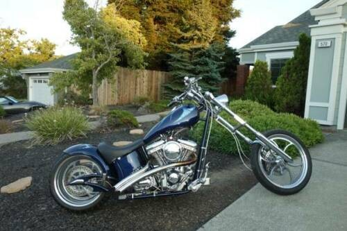 2005 Custom Built Motorcycles Chopper Blue photo