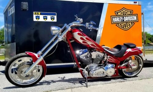 2006 Custom Built Motorcycles Chopper Red photo