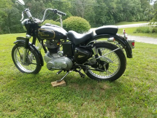 2006 Royal Enfield (retro style) 500 bullet Black photo