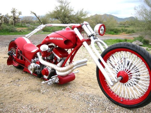 2007 Custom Built Motorcycles Chopper Red photo