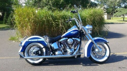 2007 Harley-Davidson SOFTAIL DELUXE PEARL WHITE / PEARL BLUE photo