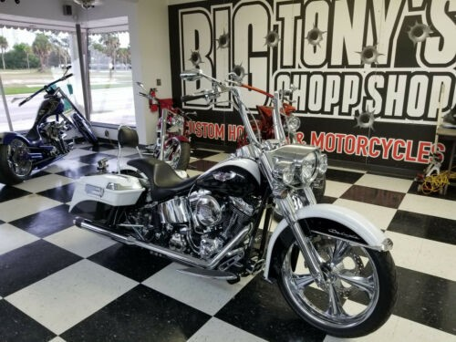2007 Harley-Davidson Softail White with black photo