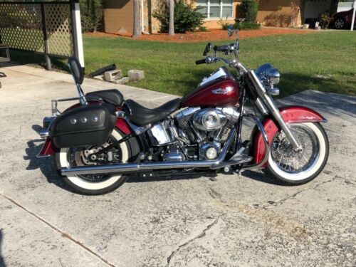 2008 Harley-Davidson Softail Red photo