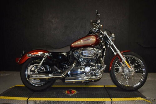2009 Harley-Davidson Sportster XL1200C - 1200 Custom 135 RED HOT/GOLD W/PINSTRIP craigslist