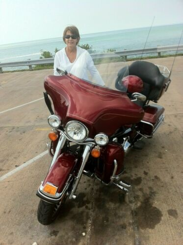 2009 Harley-Davidson Touring Red Hot Sunglo photo