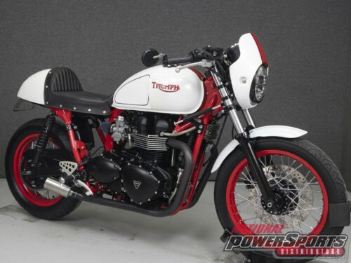 2011 Triumph Thruxton WHITE/RED photo