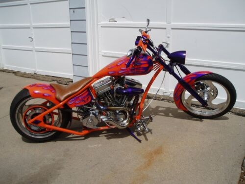 2012 Custom Built Motorcycles Chopper Orange photo