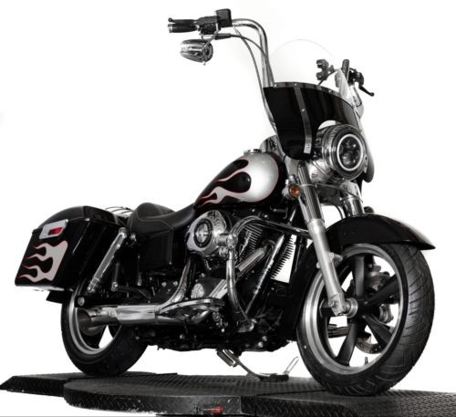 2013 Harley-Davidson Dyna Custom Black with Silver Flame photo
