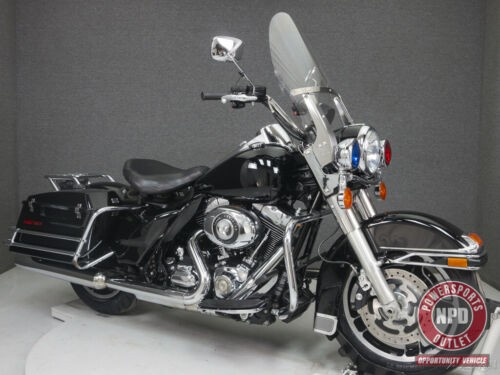 2013 Harley-Davidson Touring FLHP ROAD KING POLICE WABS VIVID BLACK photo