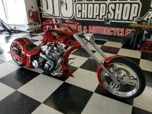 2015 Custom Built Motorcycles Chopper Orange photo