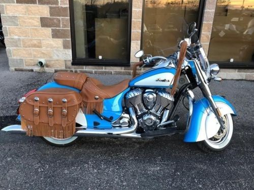 2018 Indian Chief Vintage ABS Sky Blue Over Pearl White Sky Blue/Pearl White photo