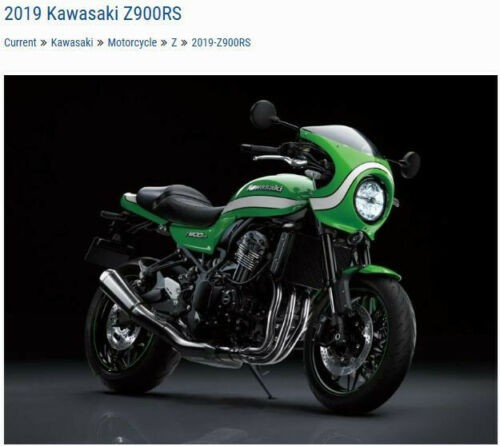 2019 Kawasaki Z900RS Cafe -- Green photo