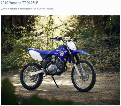 2019 Yamaha TTR-125LE — Blue for sale