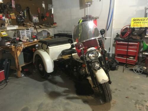 1966 Harley-Davidson Police Special Service Car White photo