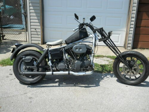 1969 Custom Built Motorcycles Chopper Black and Gray photo