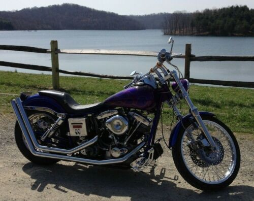 1994 Custom Built Motorcycles Bobber Purple/Mix photo