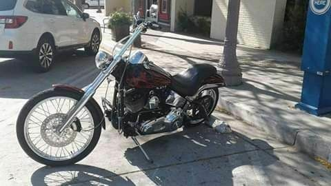 2004 Harley-Davidson Softail Burgundy flames, over Vivid Black, pi need in Blood Red photo