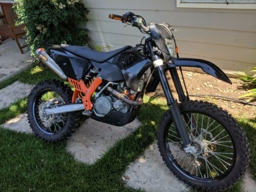 2008 KTM EXC Black/Oragne photo