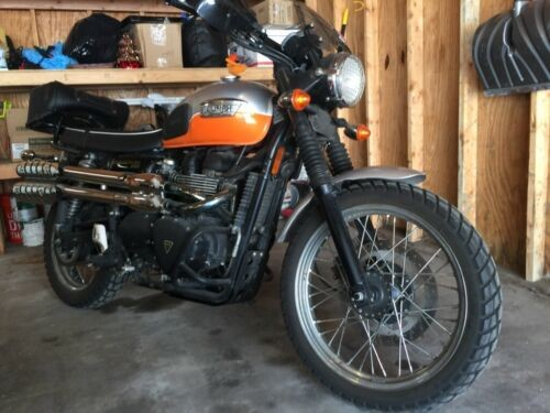 2008 Triumph Scrambler Orange photo
