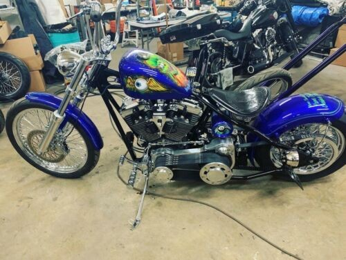 2015 Custom Built Motorcycles Bobber Blue photo
