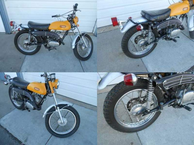 1971 Yamaha CT1 175 Enduro Yellow for sale craigslist photo