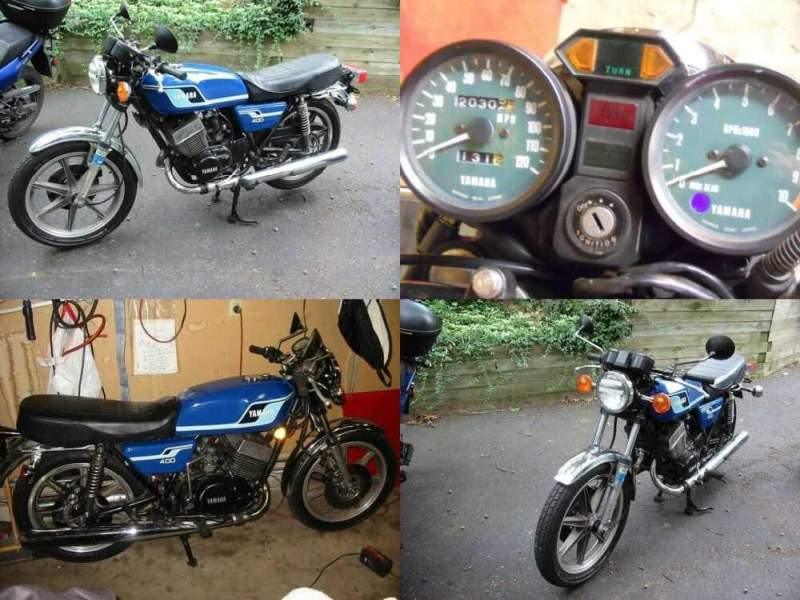 1977 Yamaha Rd400 Blue for sale craigslist photo