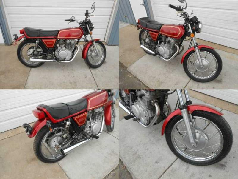 1977 Yamaha XS Dark Red for sale craigslist photo