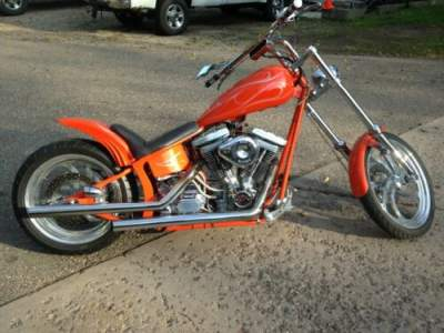 1997 Custom Built Motorcycles Chopper Orange for sale craigslist photo