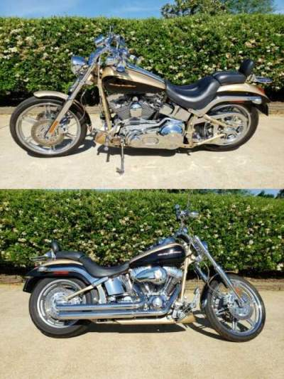 2003 Harley-Davidson Softail Gold/black 2003 Factory for sale craigslist photo