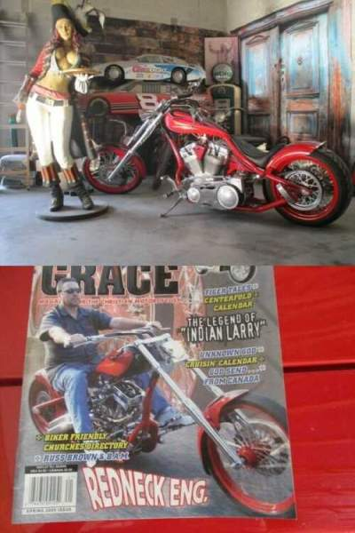 2004 Custom Built Motorcycles Chopper Red for sale craigslist photo
