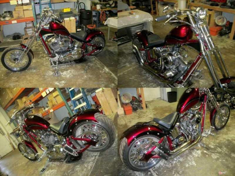 2005 Custom Built Motorcycles Chopper red/black for sale craigslist photo