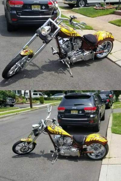 2006 Custom Built Motorcycles Chopper Brown for sale craigslist photo