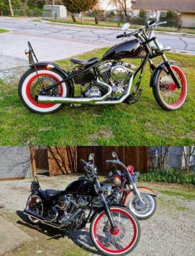 2008 Custom Built Motorcycles Bobber Black for sale craigslist photo