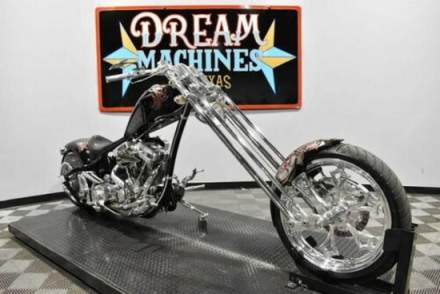 2009 Bourget Dragon 330 Softail Springer Chopper Black for sale photo