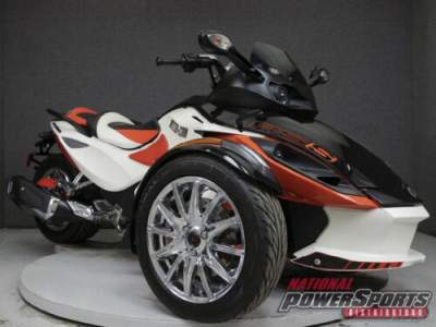 2014 Can-Am Spyder RS-S SE5 TRIKE WHITE/ORANGE for sale photo