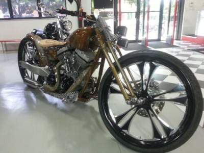 2014 Custom Built Motorcycles Bobber Brown for sale photo