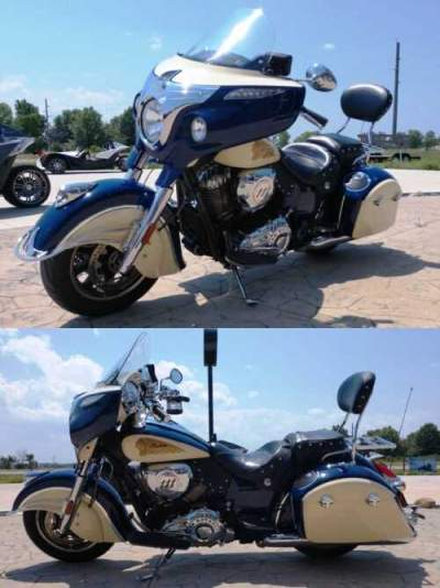 2015 Indian Chieftain® Blue for sale craigslist photo