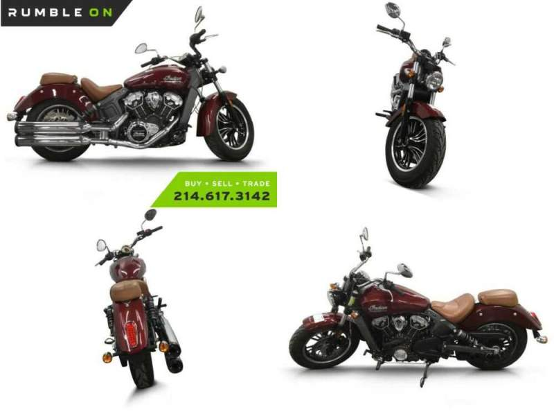 2018 Indian SCOUT (ABS) CALL (877) 8-RUMBLE Maroon for sale craigslist photo