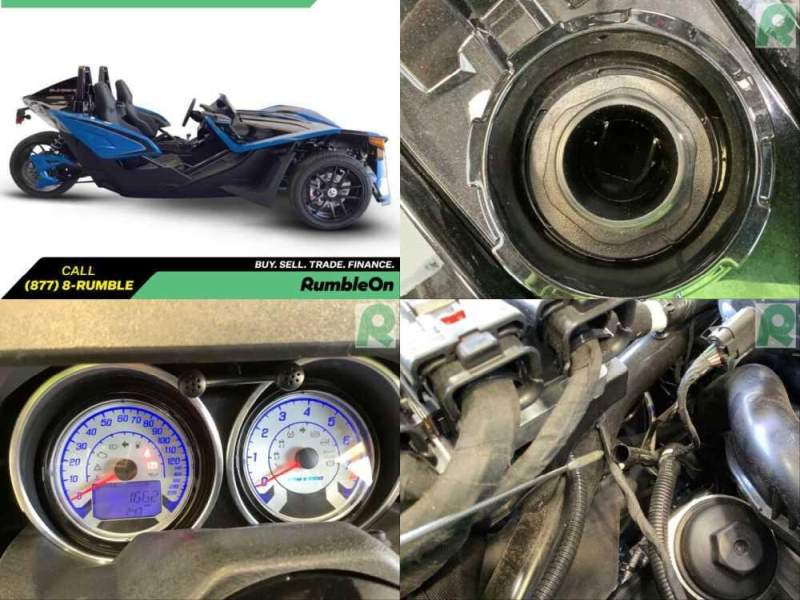 2018 Polaris SLINGSHOT SLR CALL (877) 8-RUMBLE Blue for sale craigslist photo