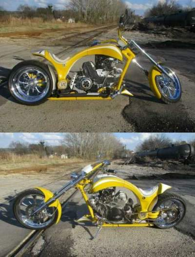 2005 Custom Built Motorcycles Chopper Yellow for sale craigslist photo