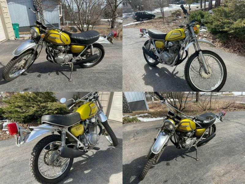1973 Honda SL350 Yellow used for sale