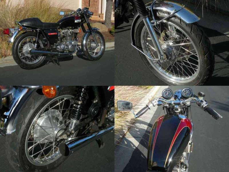 1973 Triumph Trident Red over black used for sale craigslist