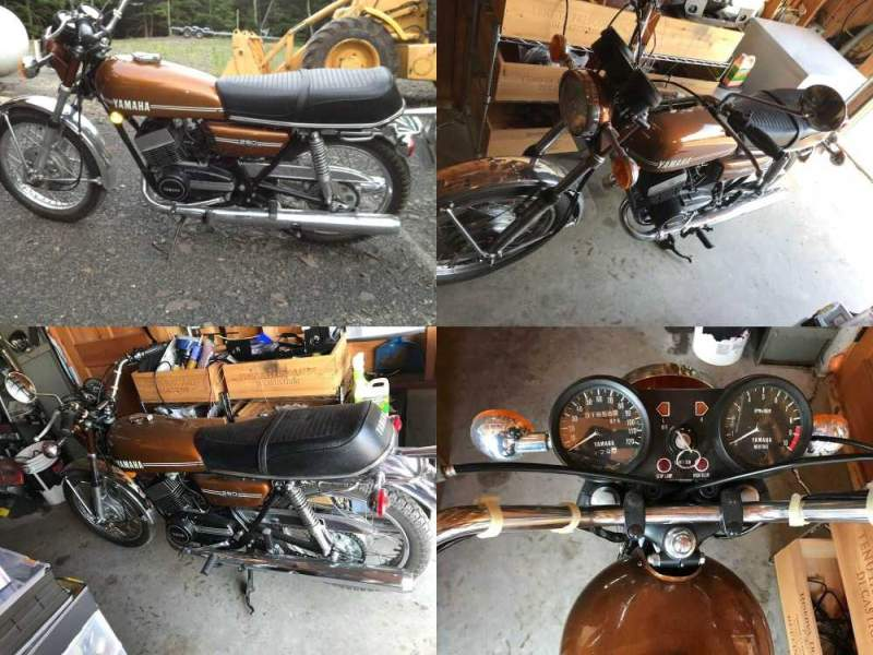 1974 Yamaha RD 250 Brown used for sale