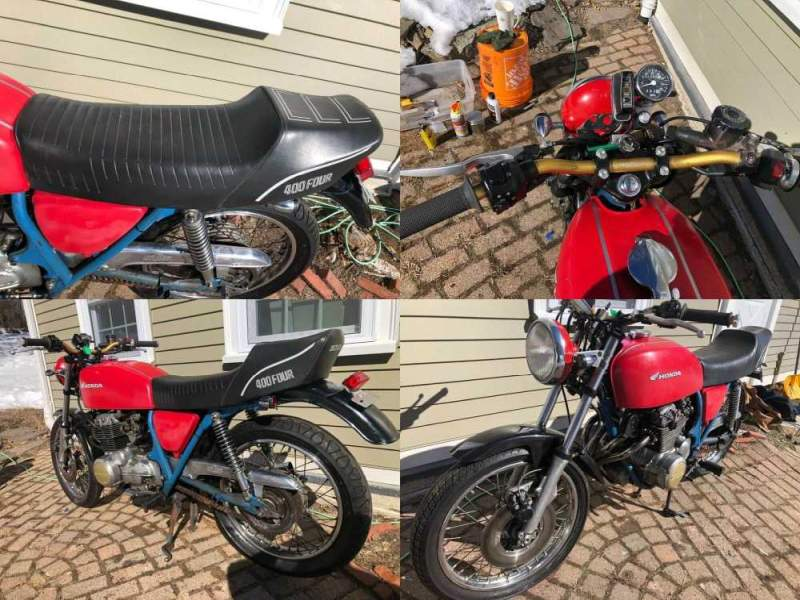1975 Honda CB Red used for sale
