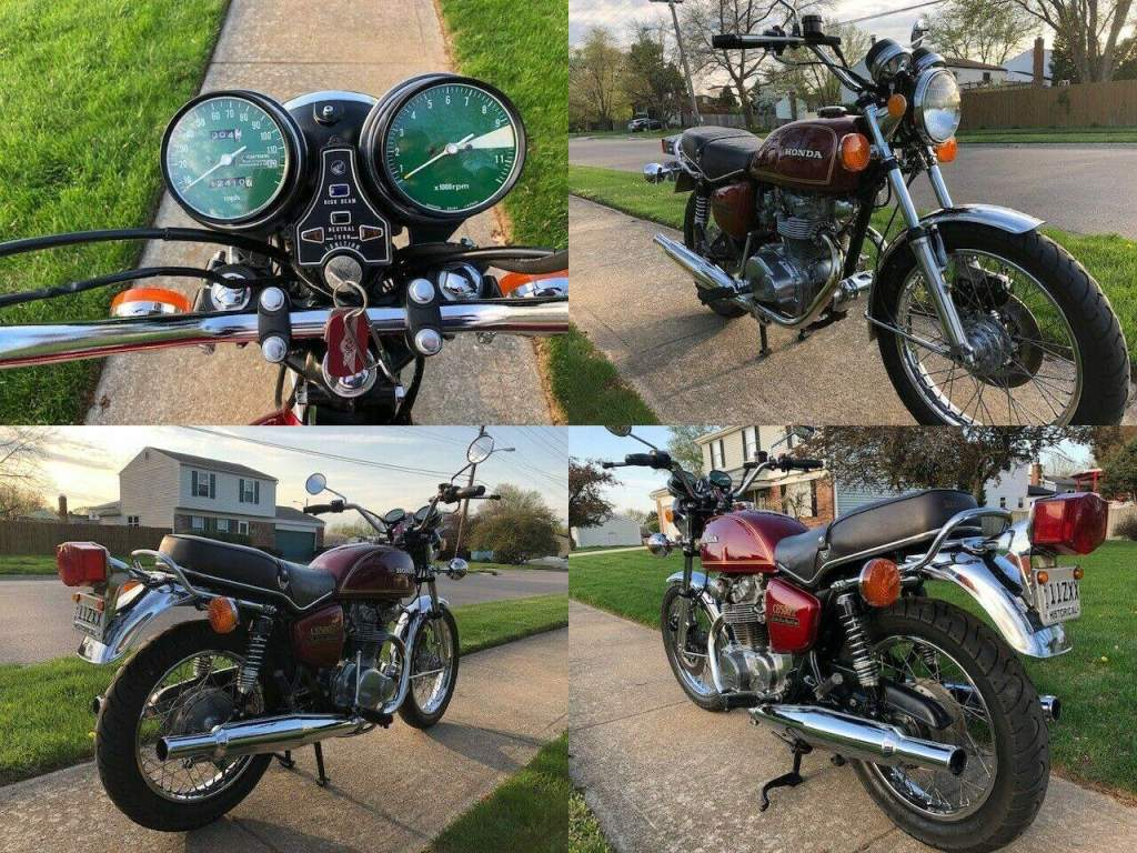 1976 Honda CB Red used for sale craigslist
