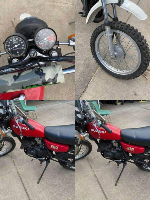 1976 Suzuki TS 250 Red used for sale